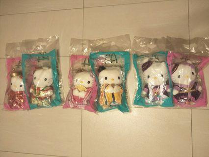 2000年麥當勞Hello Kitty 紀念品共三組6隻
