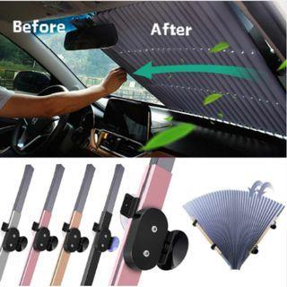 Car Retractable Windshield Sun Shade Cover Cool Interior Accessory