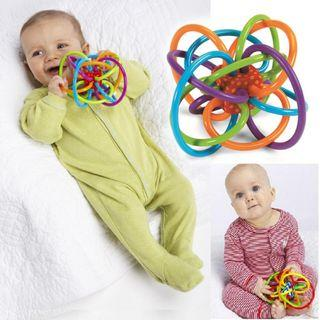 Baby Ball Toy Plastic Hand Bell Rattle Teether Theething Toys Baby Toys Travel Gift