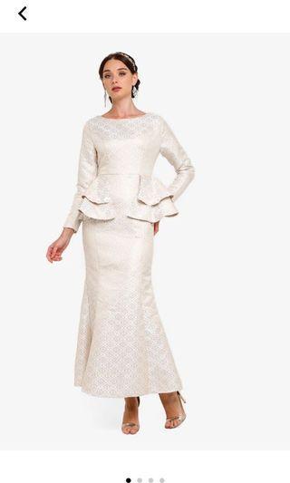 🚚 Zalia Jacquard Peplum Dress