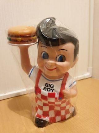 American Fast Food Advertising Mascot Big Boy Restaurant Coin Bank