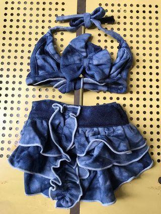 Bikini Swimwear Swimsuit Dog Blue Sexy