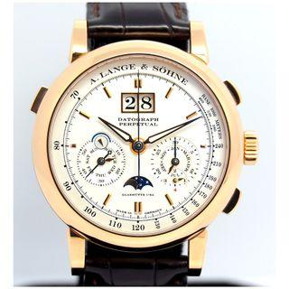 A. Lange & Söhne 18K Rose Gold Datograph Perpetual Calendar Moonphase Ref:410.032