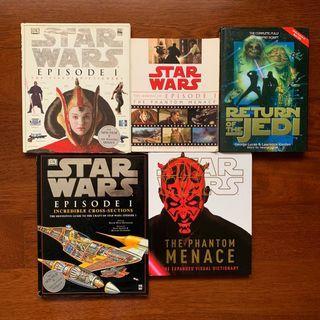 Star Wars books(70-150 each)