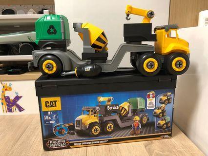 Cat 4 in1 組裝工程車 Machine Maker Junior Operator Cambo Hauler