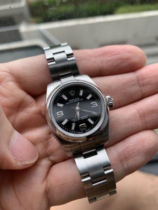 LOWEST!! Warranty LNIB Rolex Oyster Perpetual 26mm Ladies 176200 Black Dial Oyster Bracelet