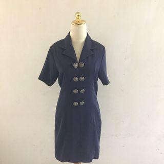 Victorian Navy Dress