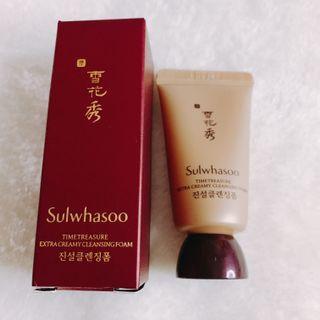 【特價】雪花秀珍雪活顏潔面乳 Sulwhasoo Timetreasure Extra Creamy Cleansing Foam EX 15ml