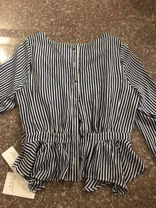 Striped Blouse Size S BNWT