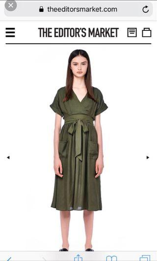 TEM Shelaine Cross-Front Midi Dress