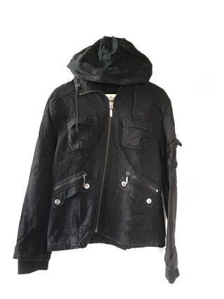 Black winter hood jacket