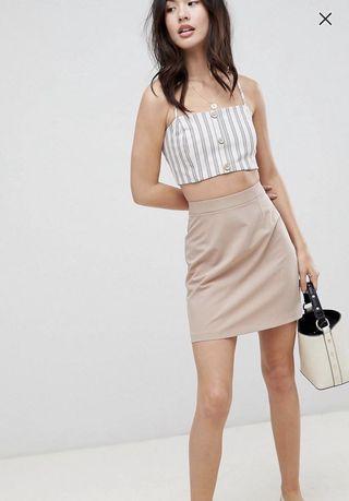 🚚 ASOS Design tailored A-line mini skirt