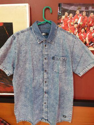 (Promo hari ini harga85k) Kemeja Denim RipCurl Washed Blue