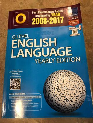 🚚 O Level English Language Yearly Edition 2008-2017