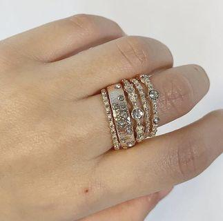 Rose Gold Rings Set