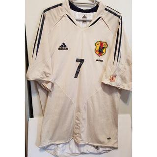 Adidas 日本國家隊 作客 Away Jersey player shirt XO 中田英壽 雙層 球員版 落場版
