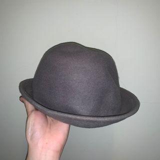 🚚 深灰色 圓頂 紳士帽