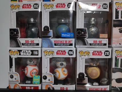 Funko Pop Star Wars BB set