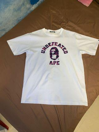 Bape X Undefeated College T-shirt