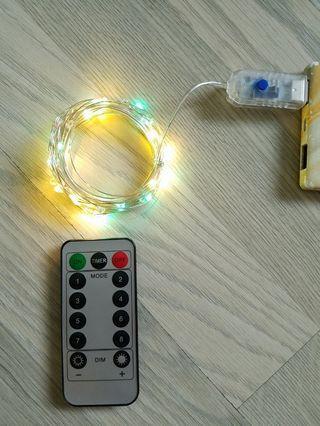 Usb遙控 Led 4 彩色燈串約五米
