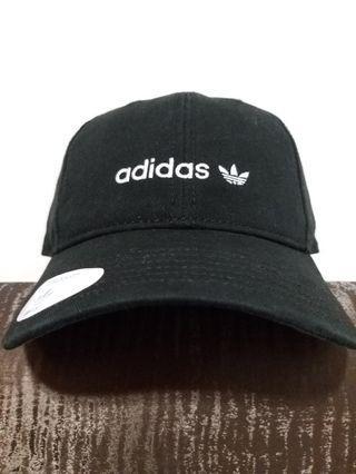 Adidas 愛迪達 三葉草  老帽 鴨舌帽 金屬扣環 黑色