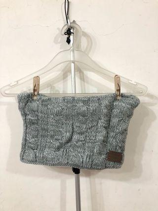 New! Grey knit neck warmer