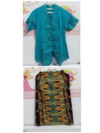 Kebaya top dan rok batik set