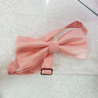 結婚 wedding 新郎伴郎兄弟 bowtie 煲呔 粉紅色