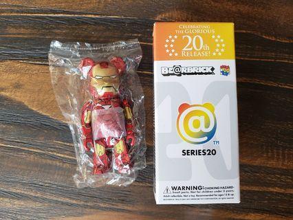 Bearbrick Series 20 Ironman Mark VI 100% 1000% Hottoys Avengers