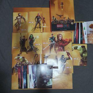 SIGNED OFFICIAL MARVEL STUDIOS : THE FIRST TEN YEARS POSTCARD SET