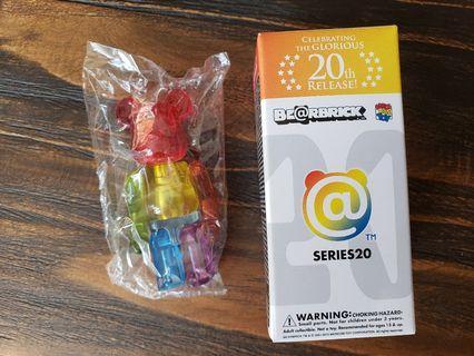 Bearbrick Series 20 jellybean 100% 1000%
