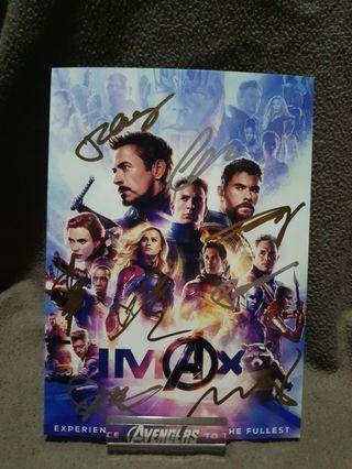Signed Endgame Official Photo