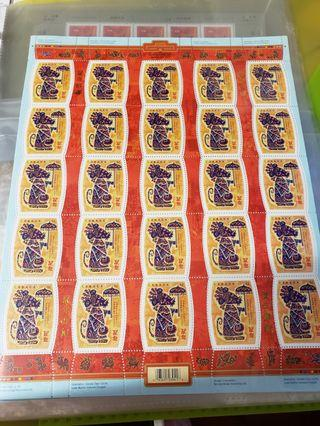 rats year stamps