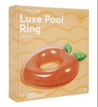 🚚 Sunnylife Luxe Pool Ring - Peach
