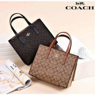 4f76bfdf4 Coach Carryall Leather Top-Handle Bag Tote Bag Sling Bag Crossbody Bag  Women's Bag BLACK