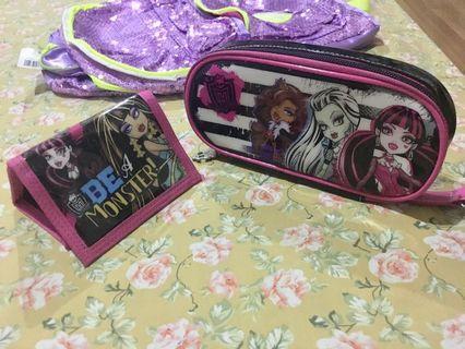 Monster High pensil case dan dompet ori