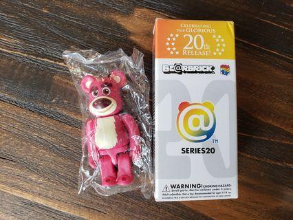 Bearbrick Series 20 Lotso 勞蘇 100% 1000% 反斗奇兵 Toy Story 4