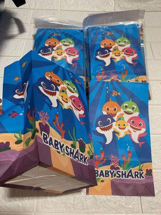 Instock pinkfong baby shark birthday theme party paper bag can use to put cupcake or goodies item brand new size Ht 23 wt 13cm depth 6.5cm 10pcs per pack .. other party item for baby shark do view my listing