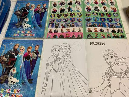 Instock A4 frozen coloring and stickers book brand new .. book -$4 , set w crayon is $4.90