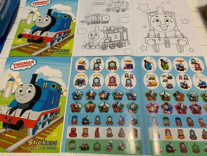 Instock Thomas and Friend A4 coloring and stickers book brand new book -$4 , set w crayon -$4.90