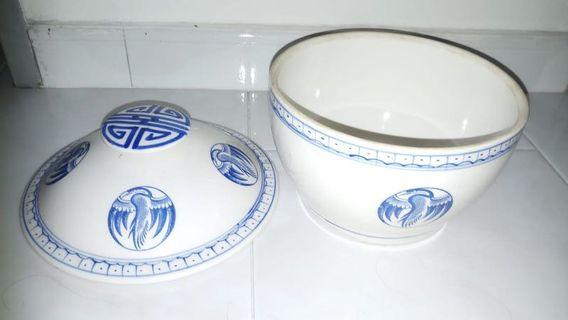 vintage bowl with cover