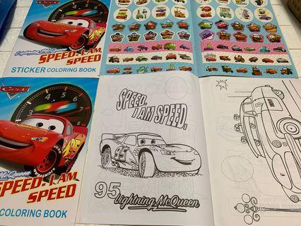 🚚 Instock mc queen A4 coloring and stickers book -$4 , w crayon set is $4.90
