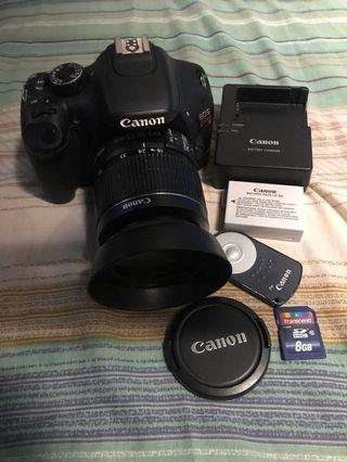 Canon EOS 550D Kiss X4 8gb SD and Tripod
