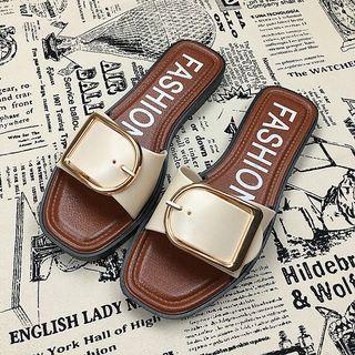 2019 new south Korean fashion sandals summer slippers women outside wearing versatile flat buckle sandals non-slip beach shoes