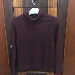 Turtleneck uniqlo maroon