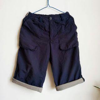 dark blue shorts ~ elastic waistband ~ max 32 inches