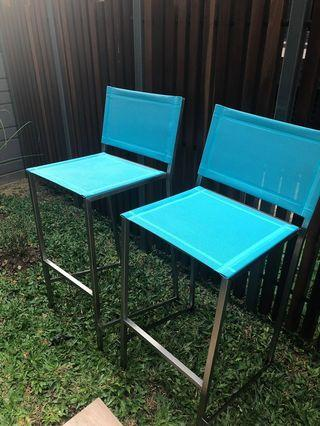 🚚 Batyline Stainless Steel Outdoor high / bar chair / stool