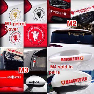 Man United Car Decals