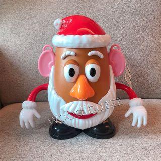 東京迪士尼 Mr. Potato Head 薯頭先生聖誕版 爆谷筒