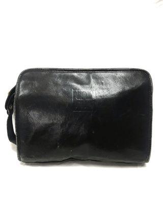 Vintage Studio Leather Clutch Bag